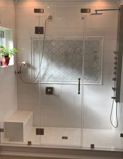 Clip-Set-Framless-glass-shower-door-with-two-frameless-glass-panels-by-century-glass