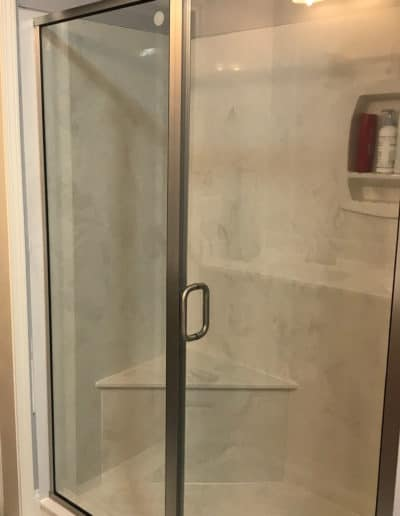 Framed-sliding-shower-door-by-century-glass-columbia