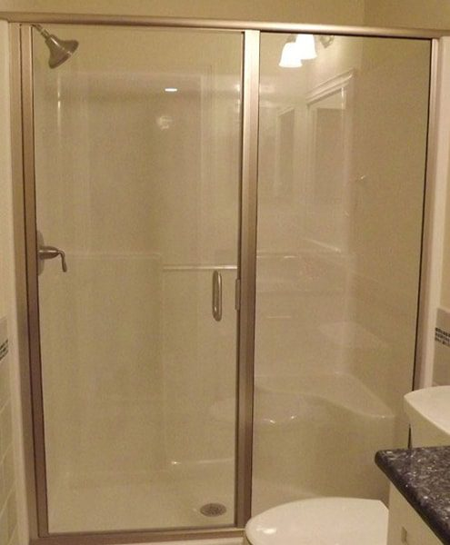 Framed Shower Door And Side Panel