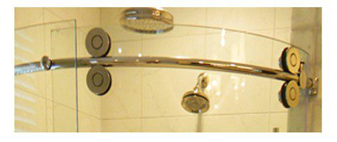 Frameless Pro Glide Curved Shower Door ZoomIn