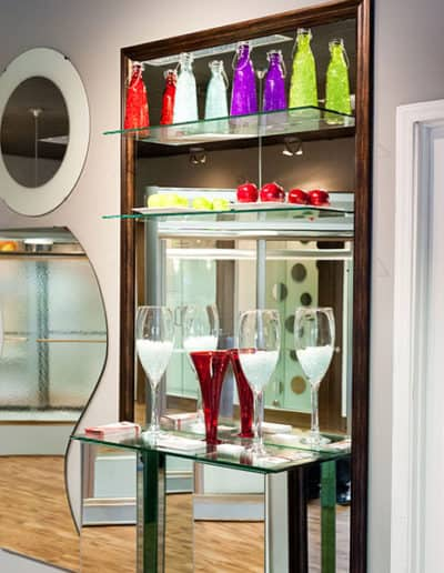 Custom-Glass-Shelves-In-Showroom