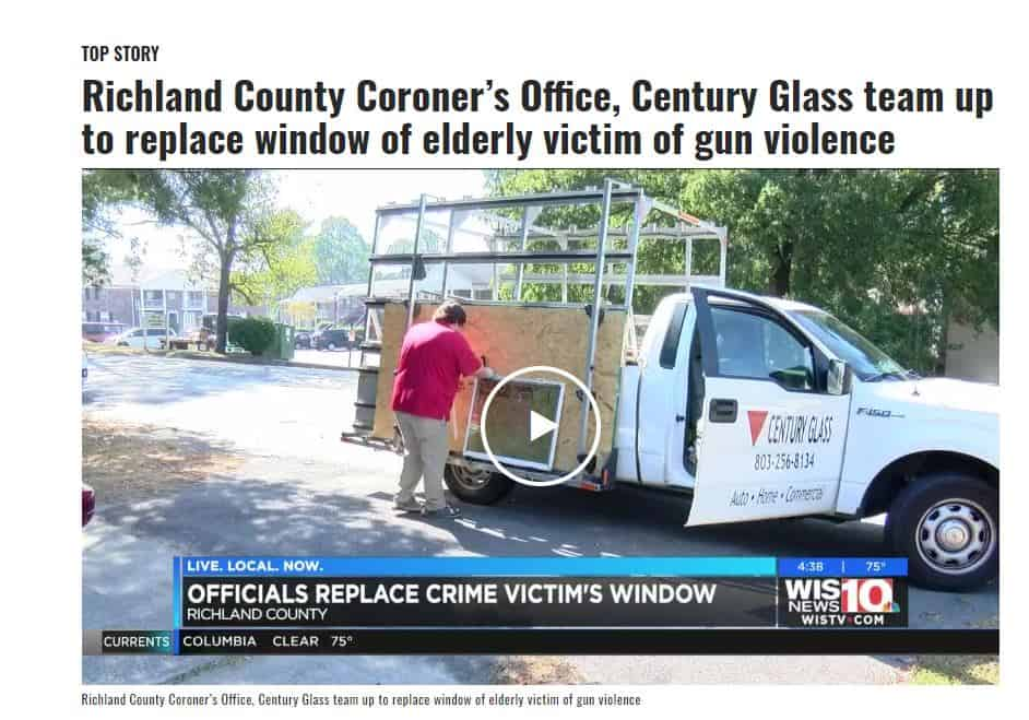 Century Glass Richland County Coroner Replace Broken Window