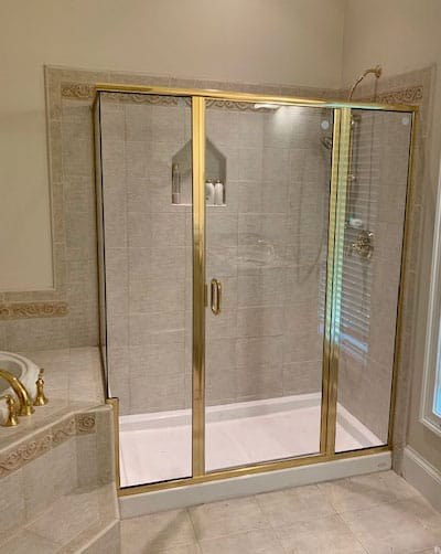 What is a Semi-Frameless Shower Door?