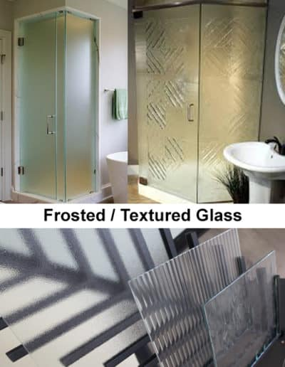 frosted glass for custom shower doors by Century Glass