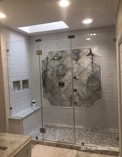 Glass frameless shower wall clip set