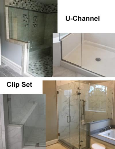 glass shower install options by Century Glass