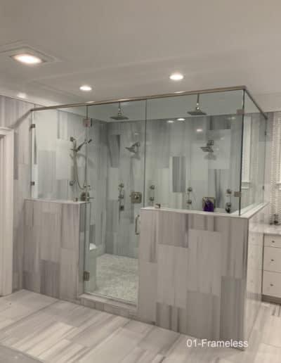 Large custom frameless showers