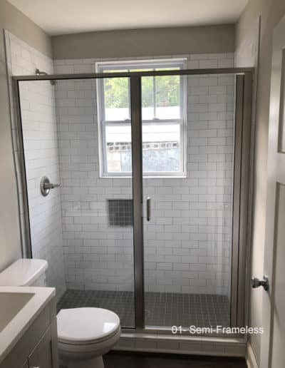 Semi Frameless Glass Sliding Shower Door by Century Glass