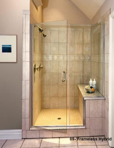Hybrid glass shower doors
