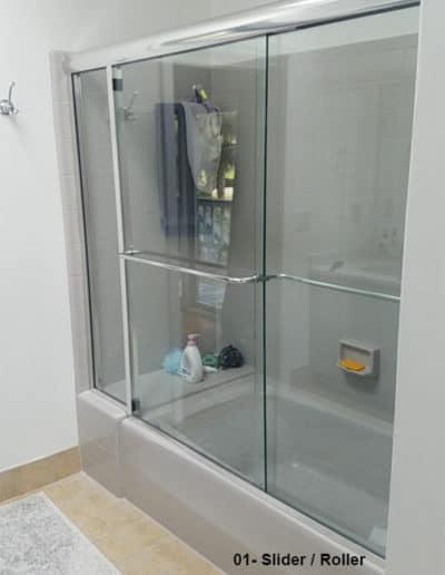 Semi framed sliding glass shower doors