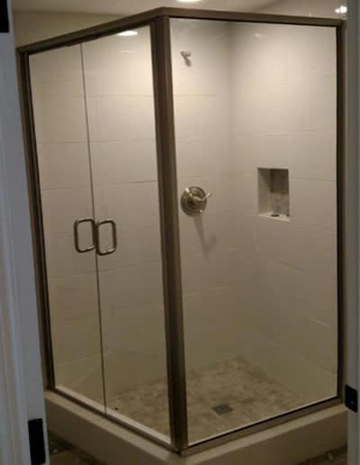 Framed shower doors are usually made with thinner tempered glass, which helps make them the most affordable option.