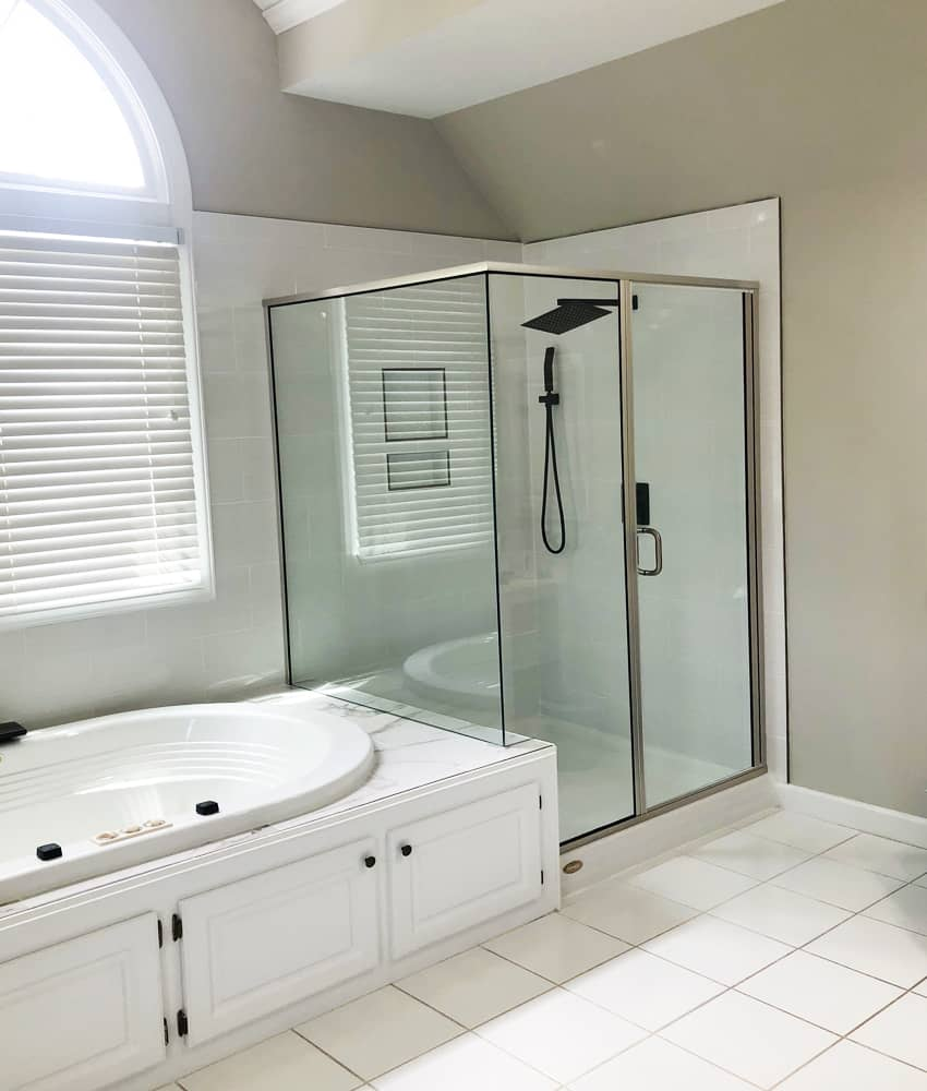 Semi frameless glass showers offered by Century glass