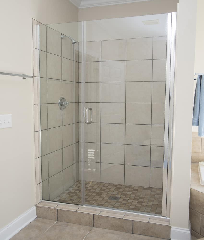 Hybrid glass showers