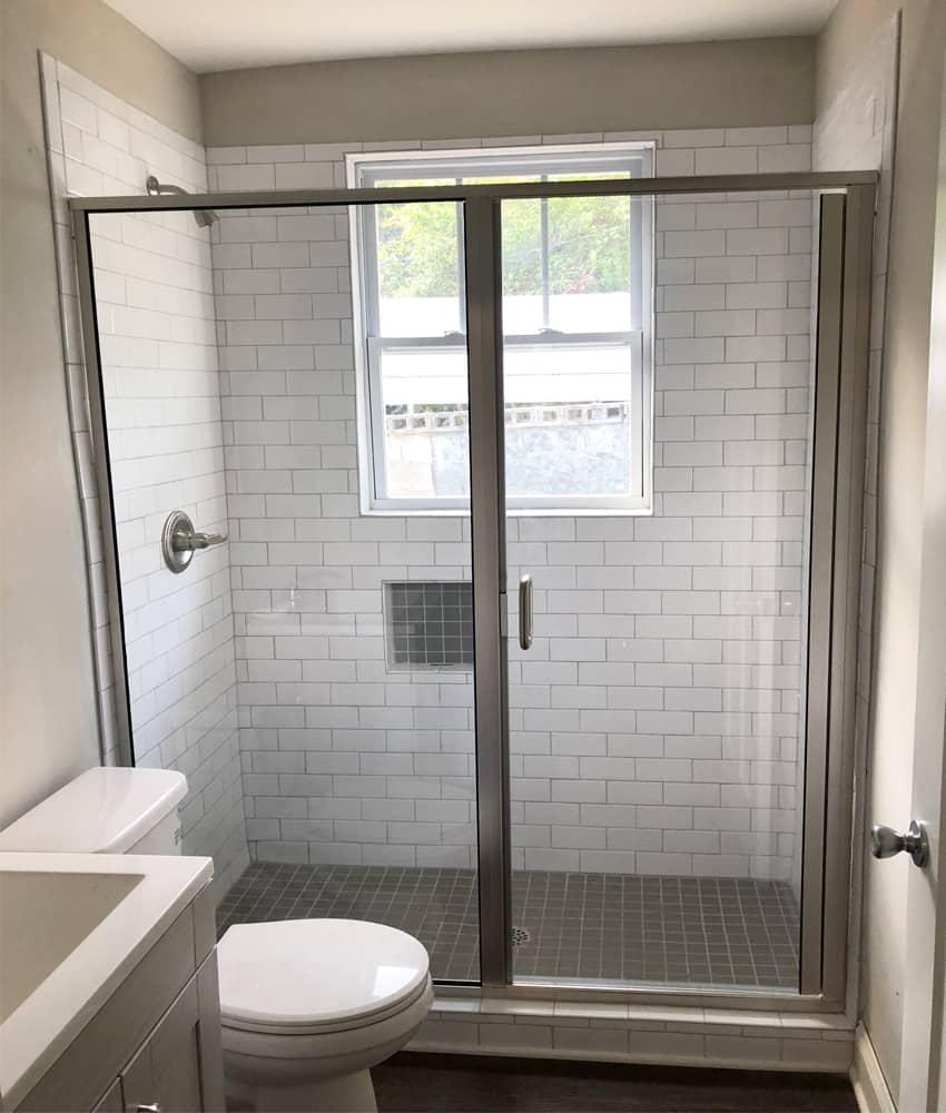 Semi frameless shower doors