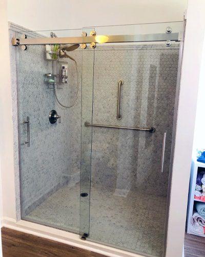 Frameless glass doors let your shower shine